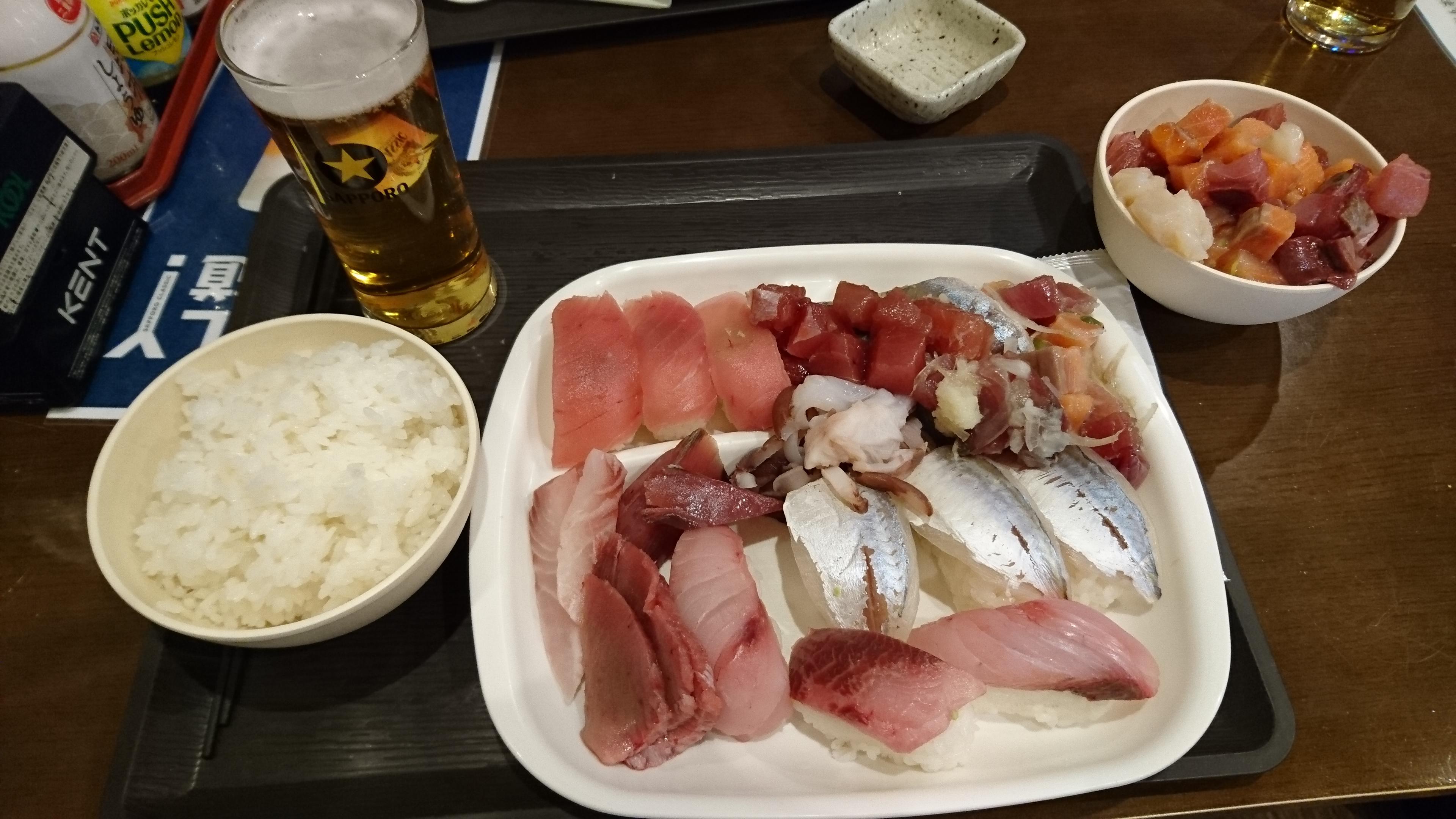 【刺身食べ放題!】札幌の根室食堂というところに行ってきました【北海道】